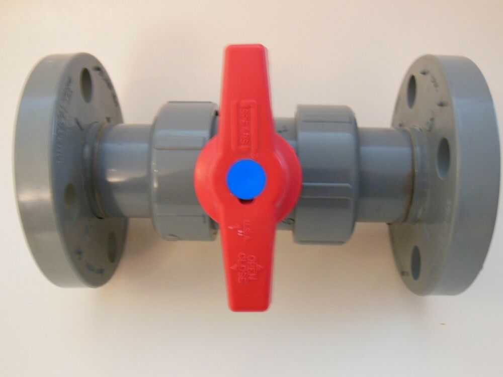 Spears true union ball valve cpvc flanged quot  c