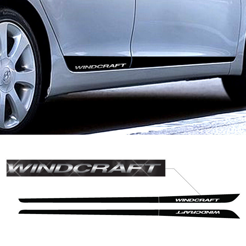 Side Door Protector Decal Sticker Chrome Btype For