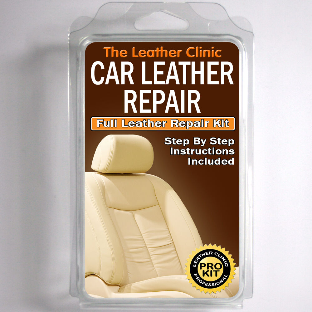 seat leather repair kit for tears holes scuffs and colour dye damage ebay. Black Bedroom Furniture Sets. Home Design Ideas