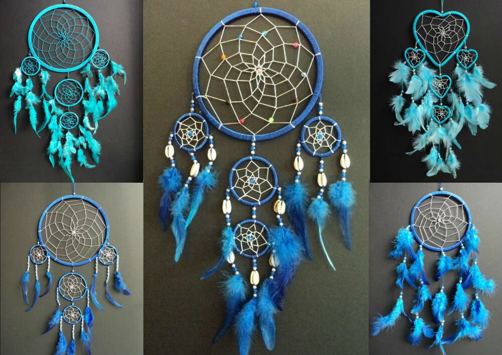 Purchase Dream Catchers BLUE DREAM CATCHER BOYS GIRLS NEW GIFT UK DREAMCATCHER LARGE 28