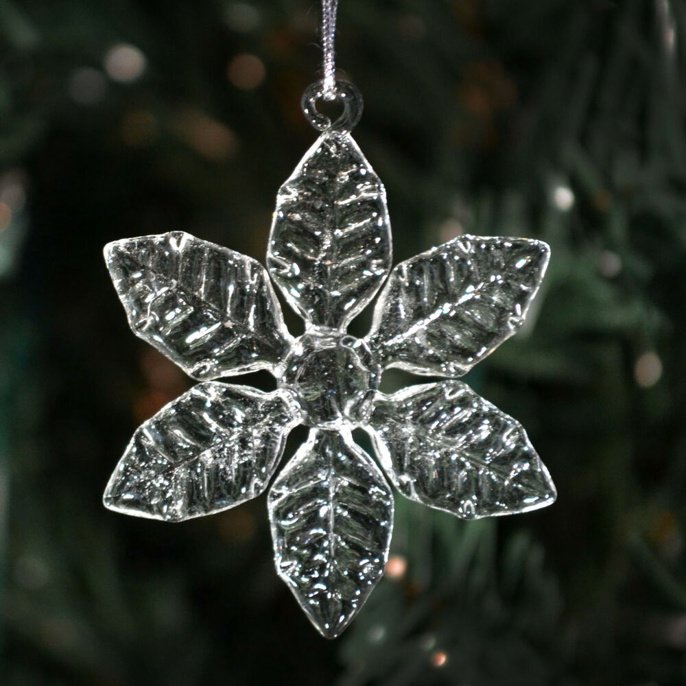 Clear Glass Snowflakes- 6 Different Styles- Christmas ...