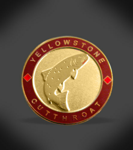 Fly fishing yellowstone cutthroat trout lapel hat pin ebay for Fishing hat pins