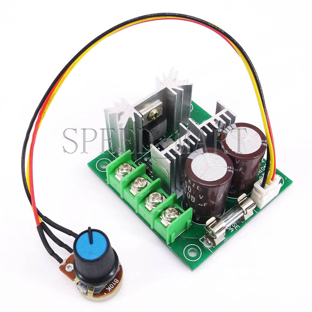 12v 40v dc 400w pwm motor regulator speed control switch for Rheostat motor speed control