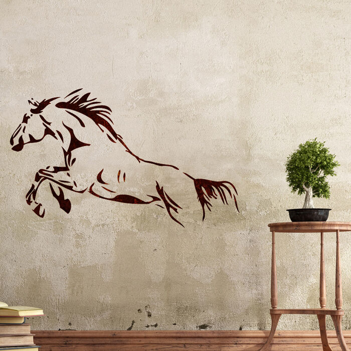 Wall stencils horse stencil large template for diy room for Pochoir mural design