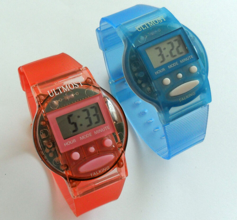 Talking watch with alarm spanish or english ebay for Watches of spain