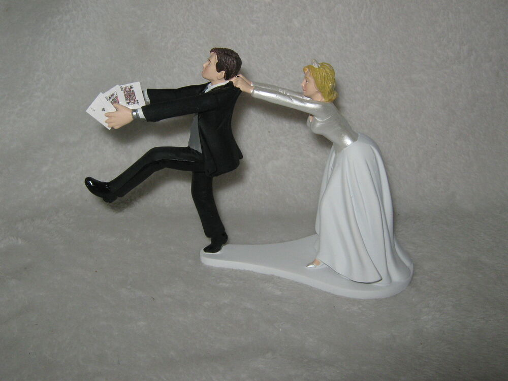 Casino Wedding Cake Toppers