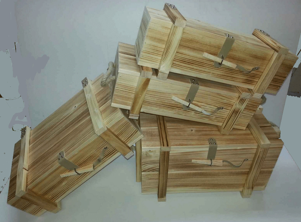 holzkiste weinkiste weintruhe wein verpackung weingeschenk truhe holzbox ebay. Black Bedroom Furniture Sets. Home Design Ideas