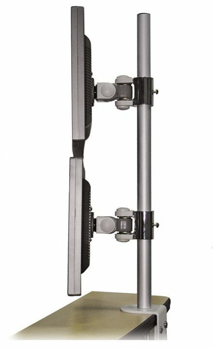Dual Lcd Flat Panel Monitor Tv Desk Arm Mount For Two