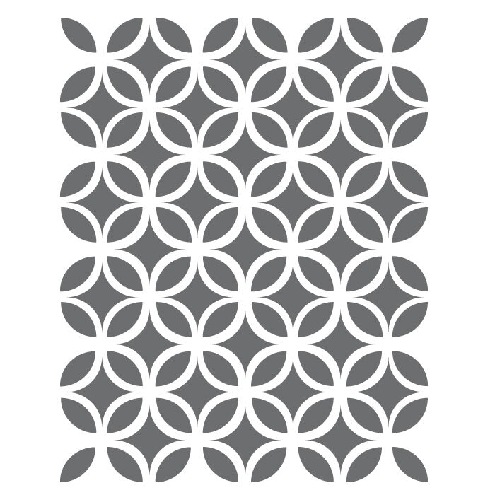 Circle lattice stencils small scale template for for Printable stencils for canvas painting