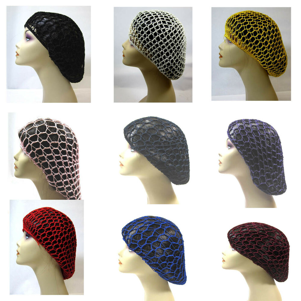 Crochet Hair Ebay : PICK 1 CROCHET SOFT RAYON HAT SNOOD HAIR NET eBay