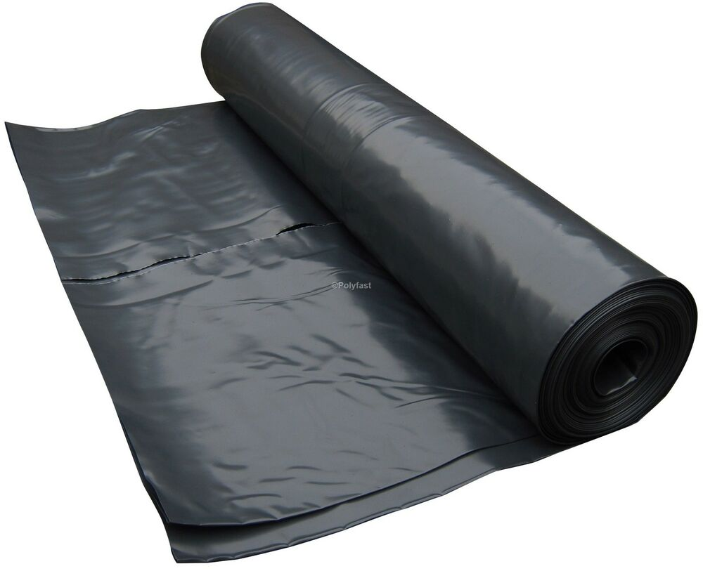 4m Wide Black Polythene Plastic Sheeting Heavy Duty Dpm