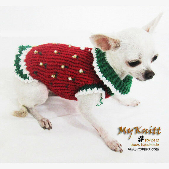 Cute Christmas Elf Dog Costume Pet Apparel Santa Claus ...