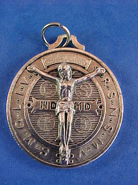 Rare St Benedict Crucifixion Medal Protection Exorcism S