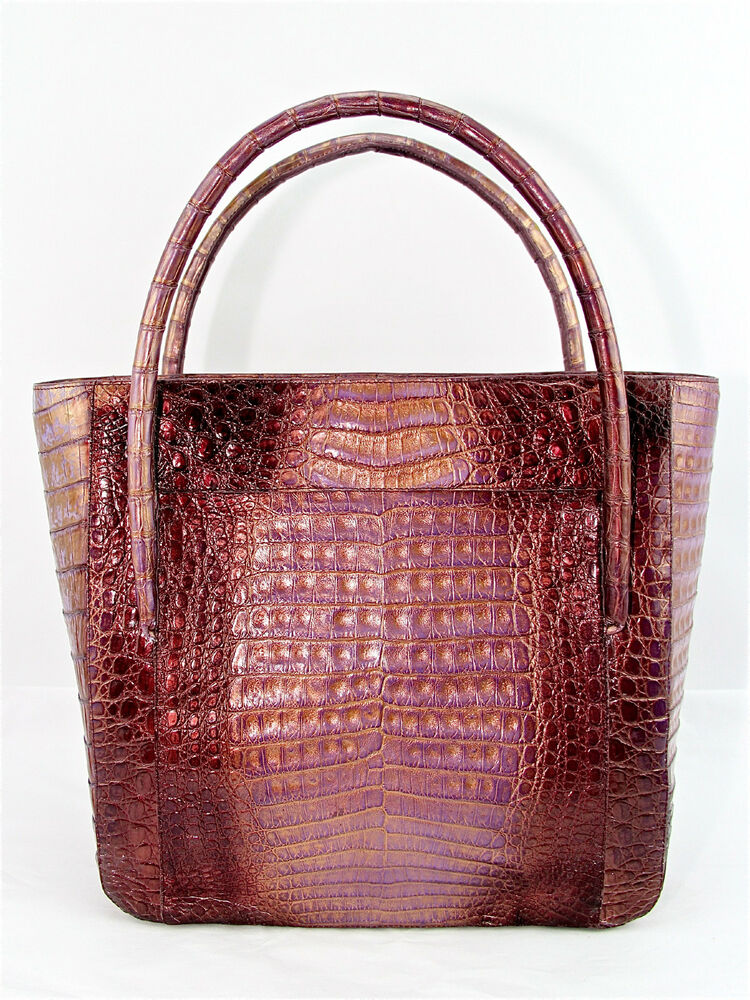 Nancy gonzalez croc medium tote exotic handbag purse new for Nancy gonzalez crocodile tote