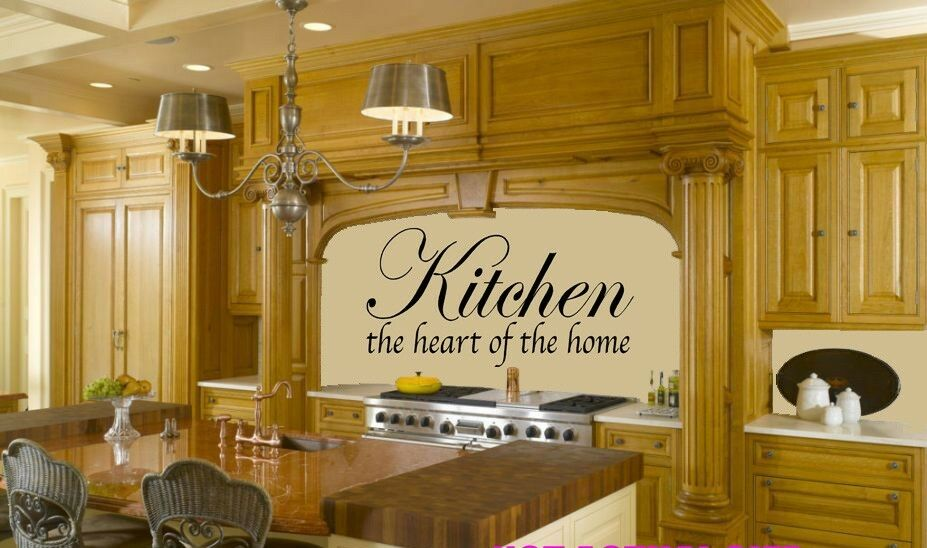Kitchen The Heart Of The Home Vinyl Wall Quote Decal