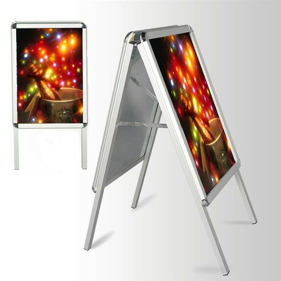 Exhibition Stand Frames : A board pavement sign poster snap frame double side