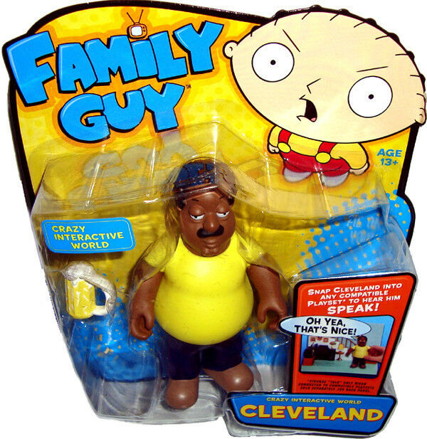 Cleveland Family Guy Toys : Family guy crazy interactive world cleveland brown action