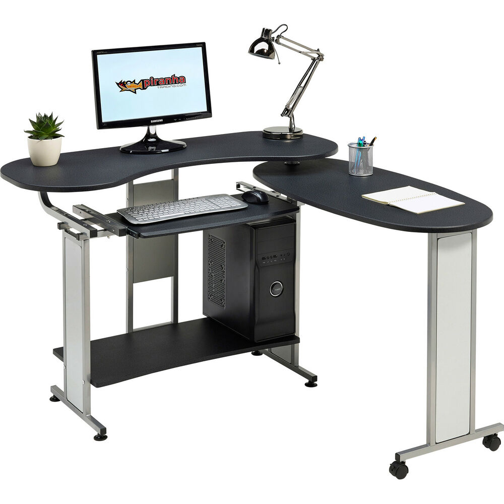 Folding computer table home office piranha furniture for Home office workstation desk