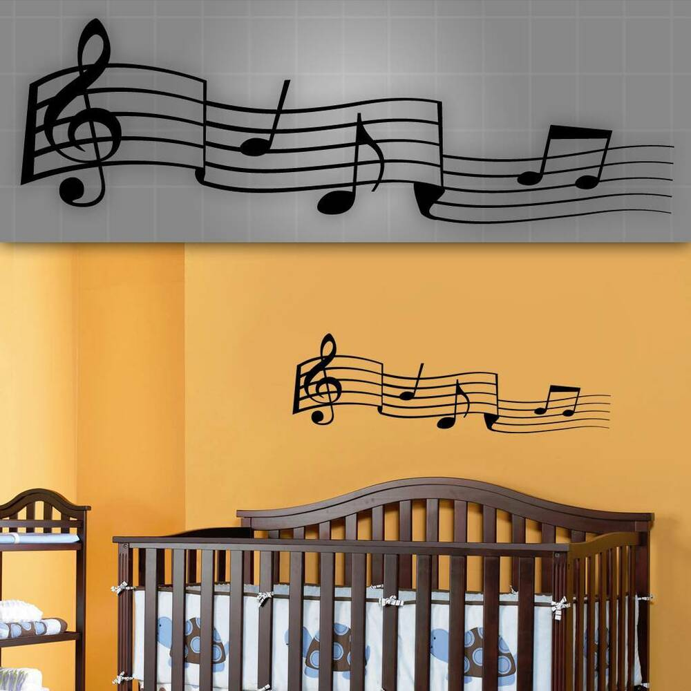 Music notes wall decal kids room music stickers nursery for Wall decals kids room