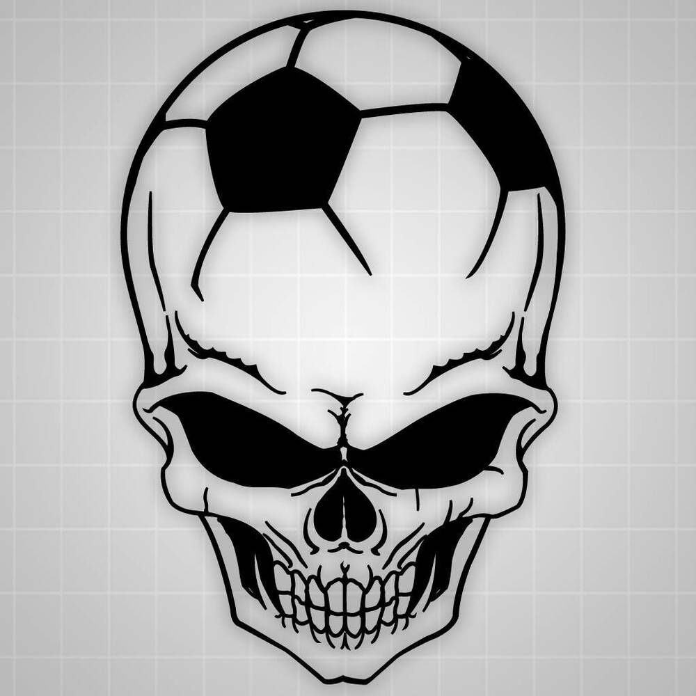 soccer skull wall decal soccer wall sticker skull wall soccer wall sticker football player decal sports