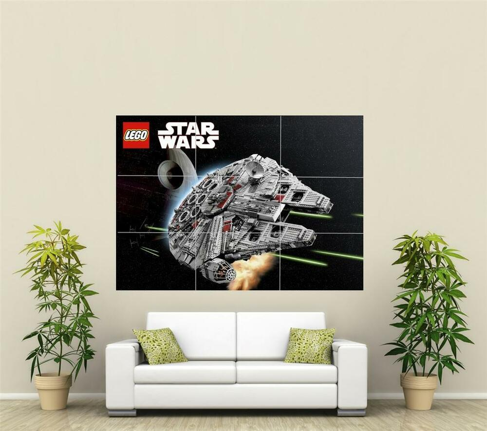 lego star wars millenium falcon giant xl section wall art. Black Bedroom Furniture Sets. Home Design Ideas