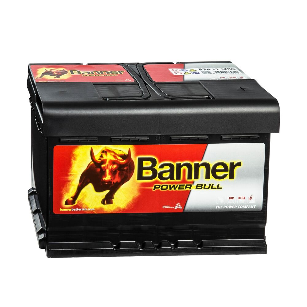 banner power bull 12v 74ah p7412 batterie autobatterie. Black Bedroom Furniture Sets. Home Design Ideas