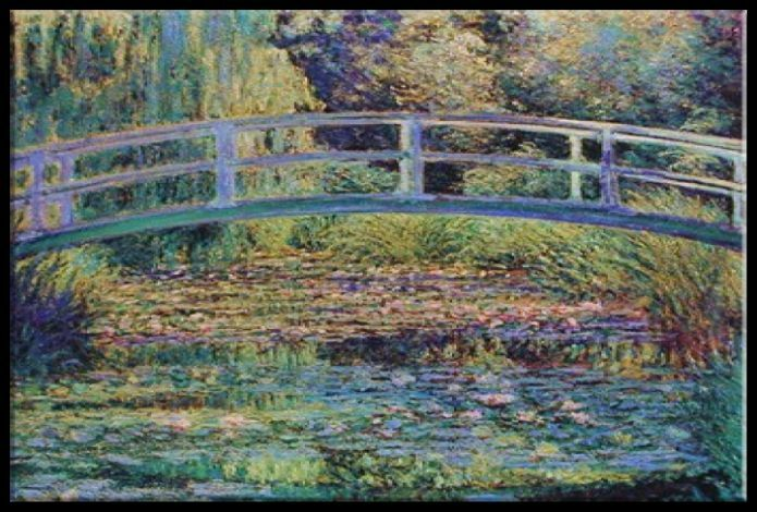 zeit4bild claude monet seerosenteich japanische br cke leinwand bilder giclee ebay. Black Bedroom Furniture Sets. Home Design Ideas