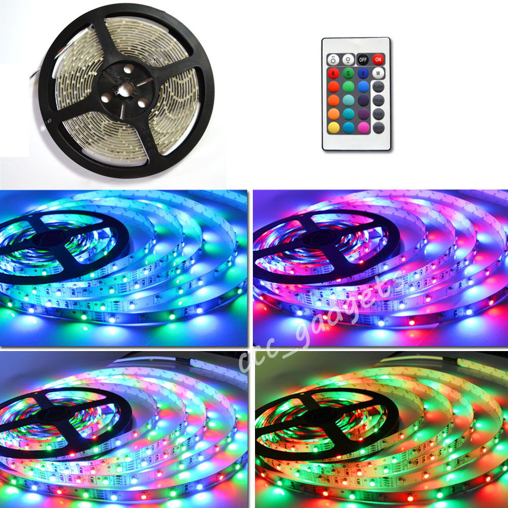 5m 300 led mood lighting ideas tv back lights 16 colour for Mood light designs