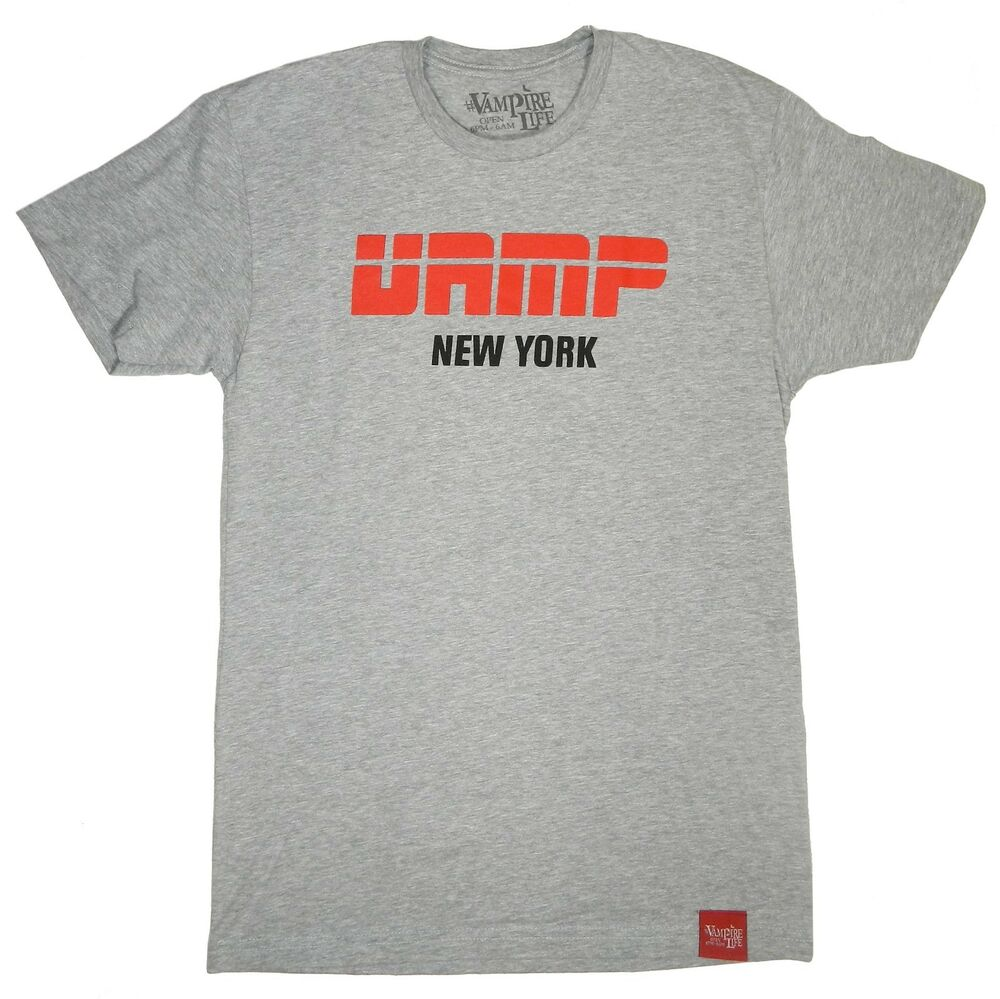 Vampire Life Vamp New York Graphic Tee By Jim Jones Grey