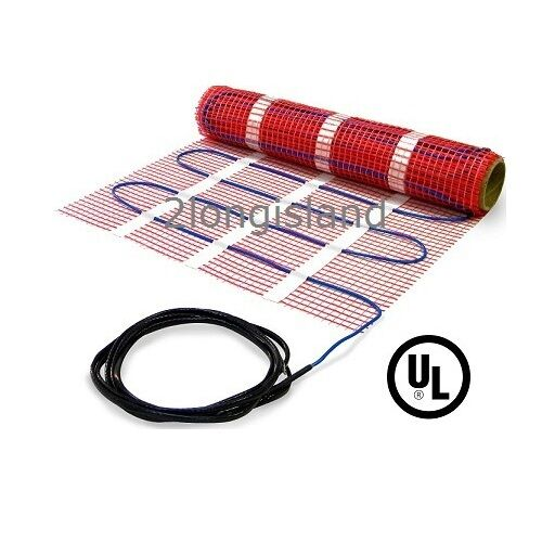 electric floor heating in floor warming heating mat 120v underfloor electric 29431