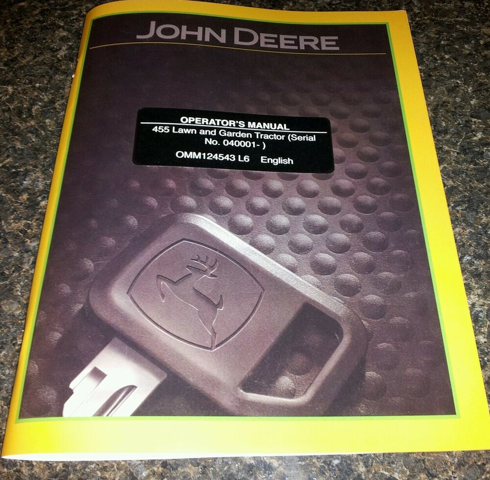 new john deere 455 operators manual with diesel engine | ebay john deere b engine diagram #8