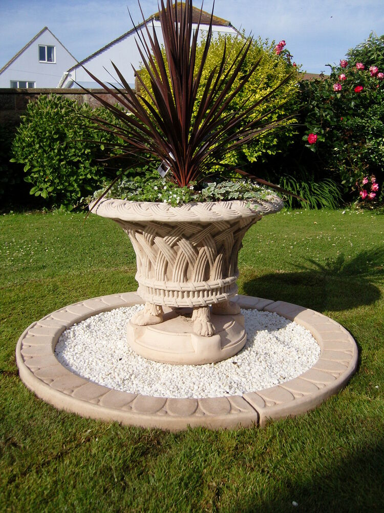 large planting feature stone jardineer tub garden ornament