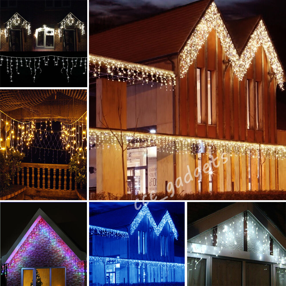 Rope Lights On Gutters: 5M 224LED Twinkling Icicle Xmas Christmas Gutter Roof