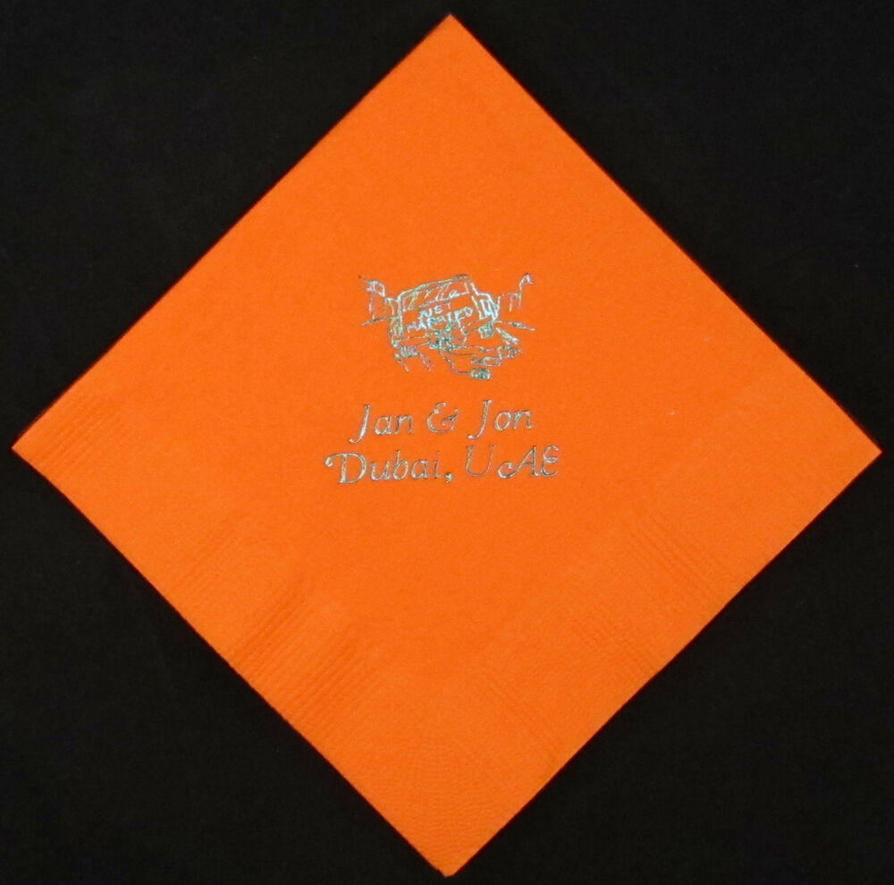 750 personalized luncheon napkins custom printed wedding napkins free