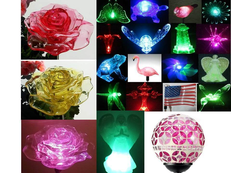 Solar Powered Garden Decor Stake Color Changing Yard Led Outdoor Landscape Light Ebay