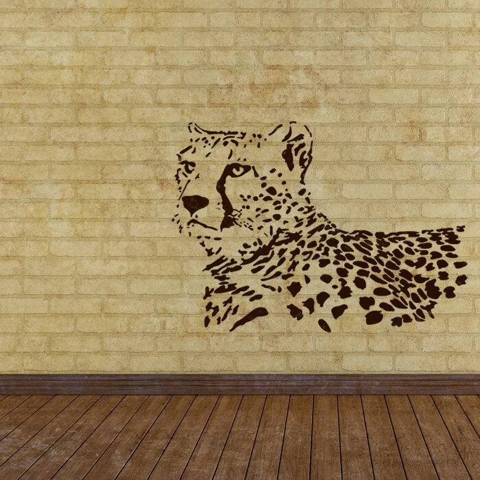 Wall stencils leopard stencil large template for wall for Printable stencils for canvas painting