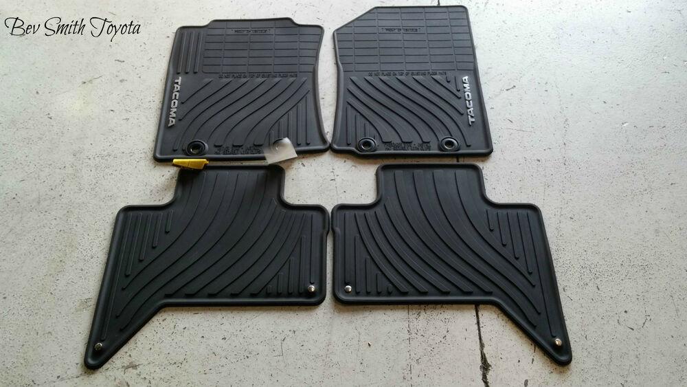 New Oem Toyota Tacoma Double Cab All Weather Floor Mats W