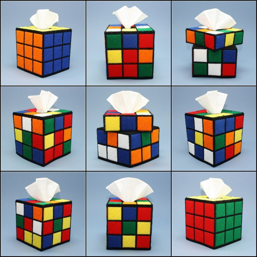 rubiks cube tissue box covers big bang theory rubiks cube. Black Bedroom Furniture Sets. Home Design Ideas