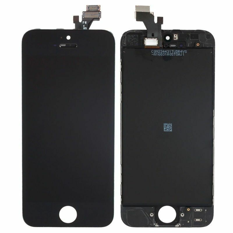 iphone 5s black screen lcd lens touch screen display digitizer assembly 14749