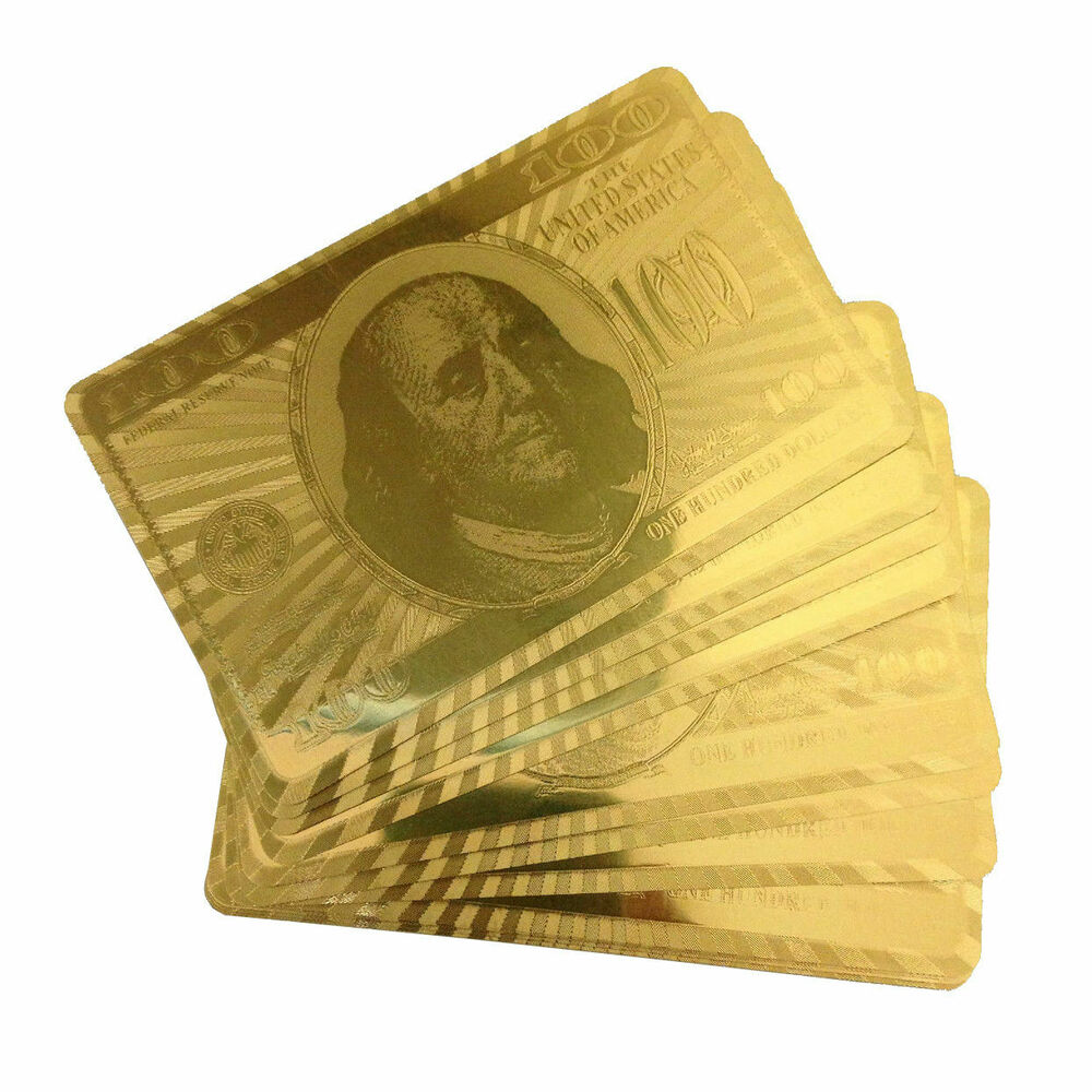 24K Carat Gold Plated Poker Playing Cards Set,Brand New