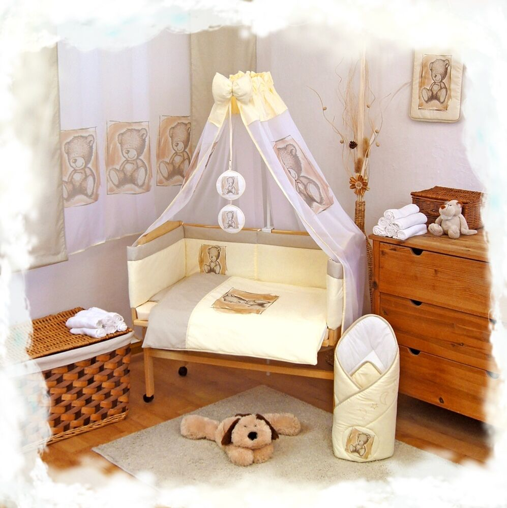 baby bettw sche 6 8tlg set f r anstellbettchen babywiege. Black Bedroom Furniture Sets. Home Design Ideas