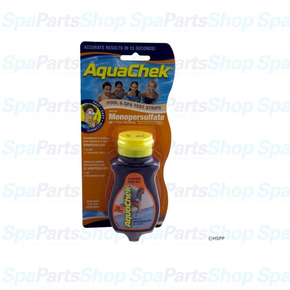aquachek pro spa hot tub pool 3 in 1 monopersulfate 50 test strips 561682a ebay. Black Bedroom Furniture Sets. Home Design Ideas