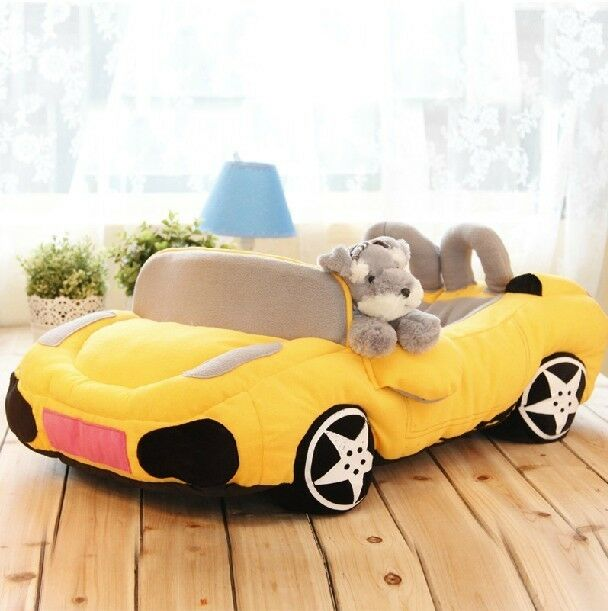 New Soft And Warm Pet Dog Cat Sport Car Bed House Sofa Bed