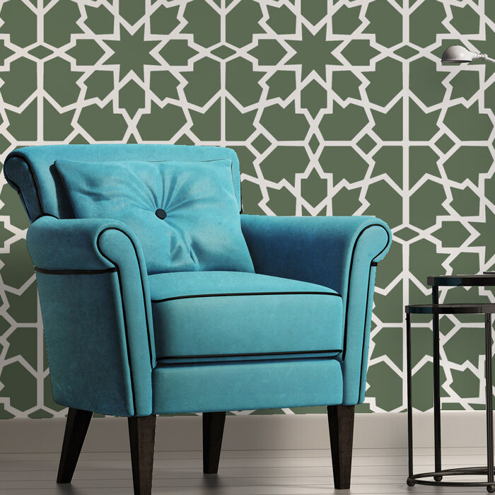 Large Reusable Moroccan Wall Stencil Melissa Allover