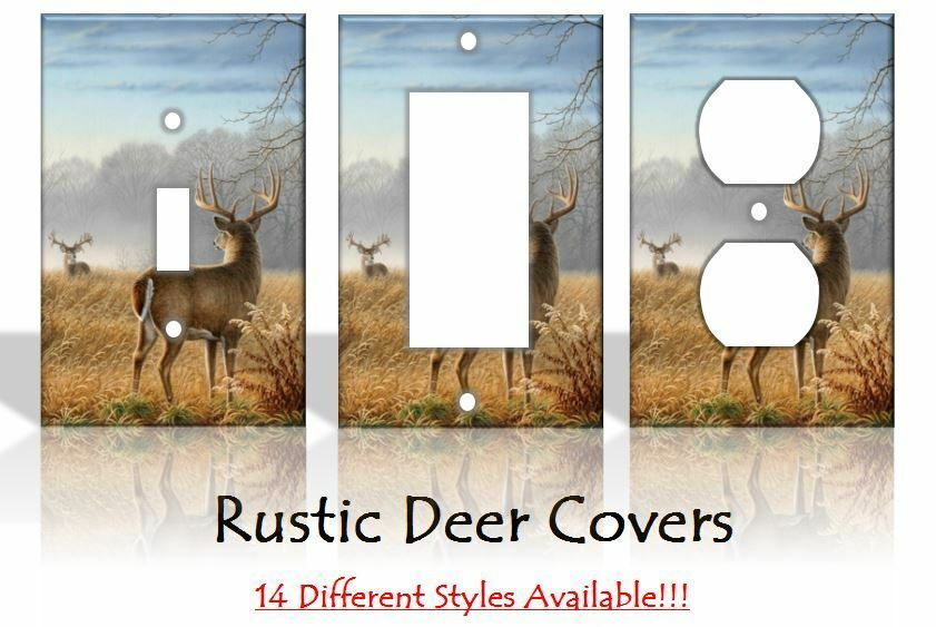 Rustic deer outdoors light switch covers home decor outlet for Home decor outlet