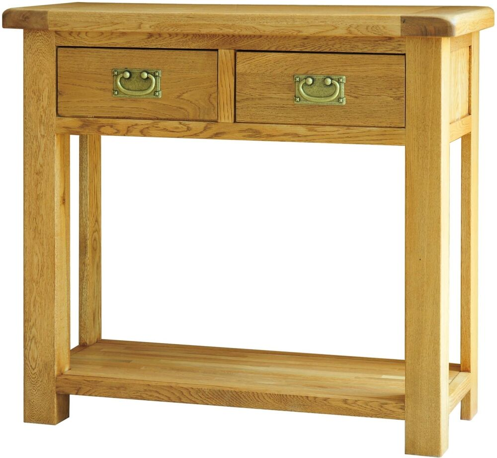 grasmere solid oak hallway furniture two drawer console. Black Bedroom Furniture Sets. Home Design Ideas