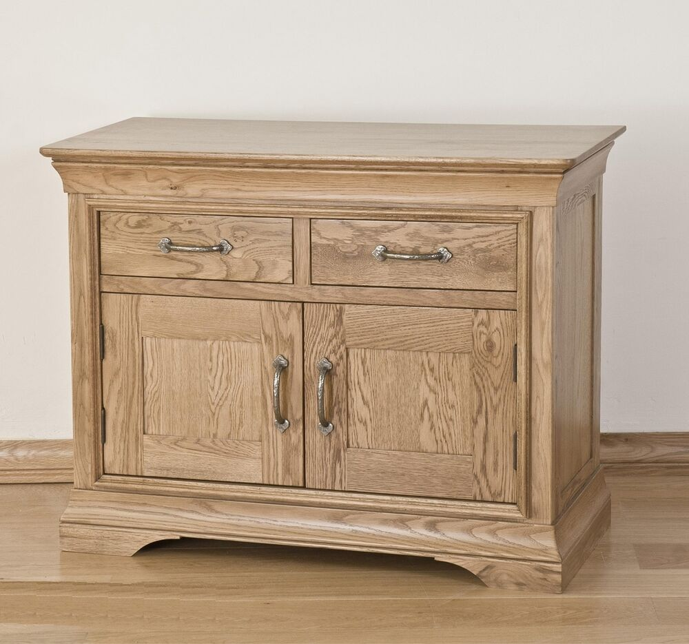 Toulon solid oak furniture small storage living dining for Dining room sideboard