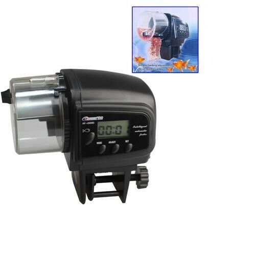Automatic fish feeder with lcd display aquariums ebay for Auto fish feeder