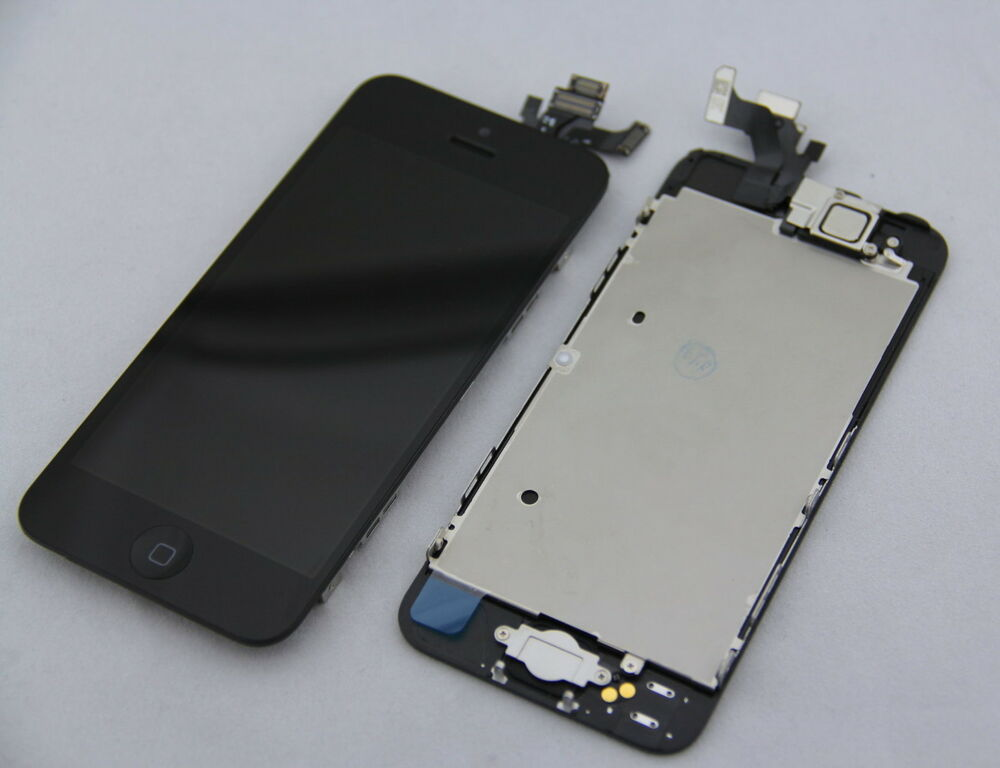 black lcd lens touch screen display digitizer assembly replacement for iphone 5 ebay. Black Bedroom Furniture Sets. Home Design Ideas