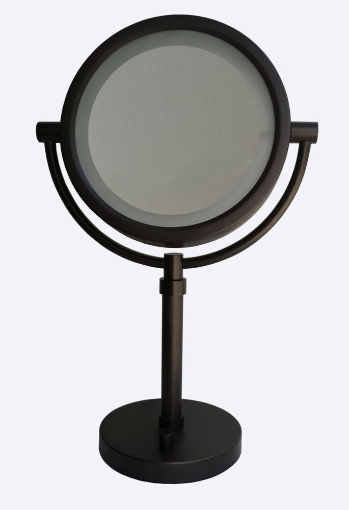 lighted bathroom mirrors magnifying 8 quot dual sided led lighted bathroom vanity mirror 10x amp 1x 19261